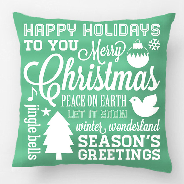 Christmas Subway Art.Us 4 76 9 Off Blue And Green Christmas Subway Art Throw Pillow Case Decorative Cushion Cover Pillowcase Customize Gift By Lvsure For Sofa Seat In