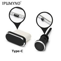 IPUMYNO Type-C Phone Charging Port 3.5mm Earphone Jack Sim Card Type C Anti Dust Plug For Samsung S9 S8 2017 Huawei P9 P10 P20