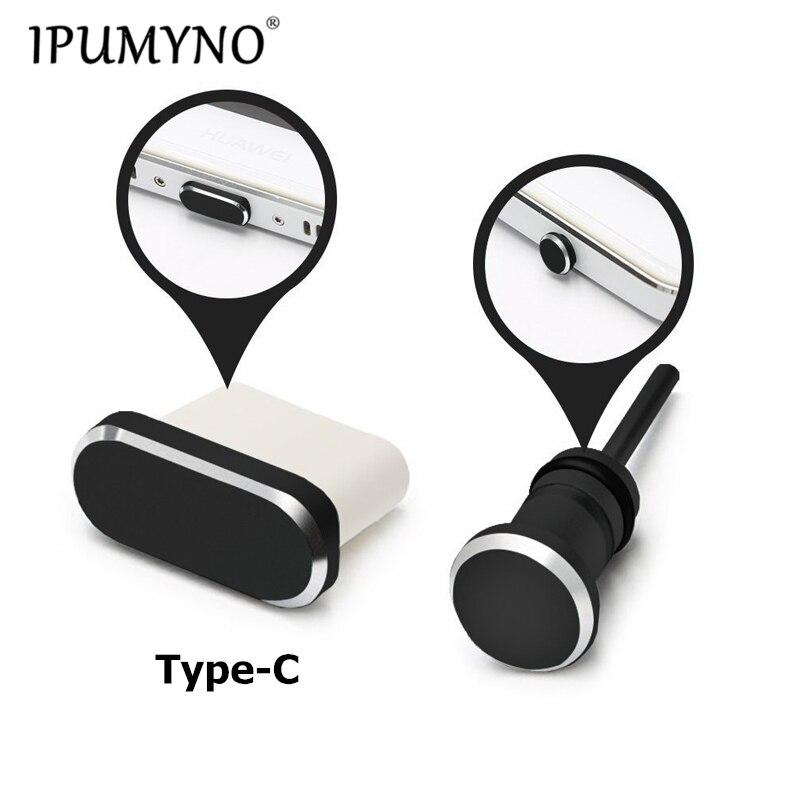 IPUMYNO type-c Port de chargement de téléphone 3.5mm prise pour écouteurs carte Sim Type C prise Anti-poussière pour Samsung S9 S8 2017 Huawei P9 P10 P20