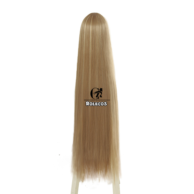 ROLECOS Game LOL Prestige Edition KDA Kaisa Cosplay Hair K/DA Kaisa Long Hair Cosplay Headwear 80cm Synthetic Hair for Women 2