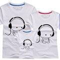 Nuevo 2017 Juego de La Familia Mirada Harajuku Camiseta A Juego madre Padre Madre hija ropa de Los Muchachos camisetas Ropa de Bebé