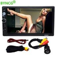 BYNCG 2 din car radio 7 HD Player MP5 Touch Screen Digital Display Bluetooth Multimedia USB 2din Autoradio Car Backup Monitor