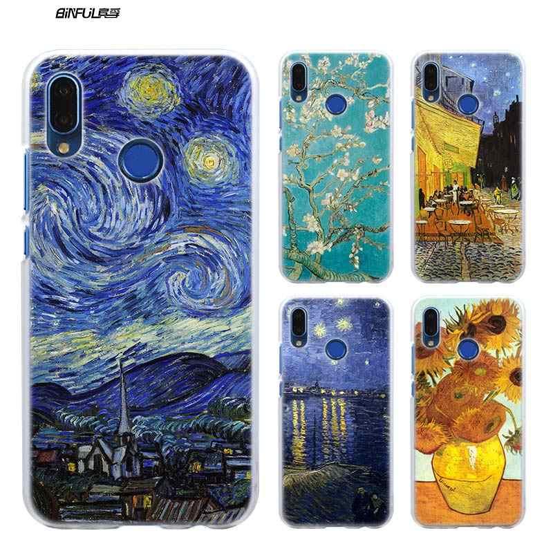 Céu Van Gogh Caso para Huawei P20 P Inteligente Nova 4 3i P30 P10 P9 P8 lite Pro mini 2017 2019 PC Claro Coque Duro Tampa Do Telefone Shell