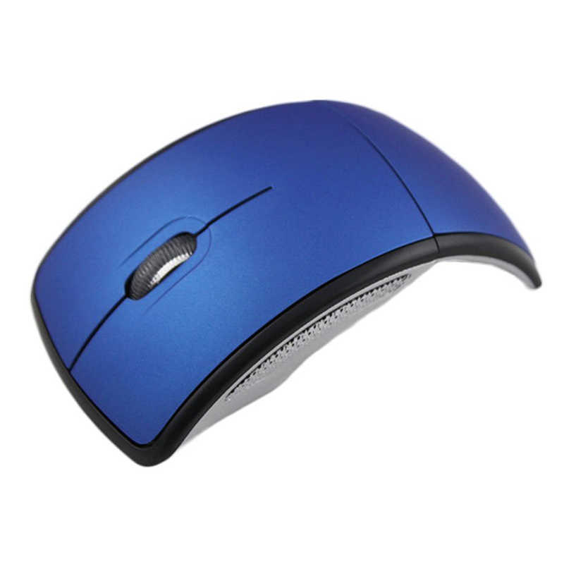 Ultrathin 2.4GHz Foldable Wireless Arc Optical Mouse Mice with Mini USB Receiver for Pad PC Laptop Notebook Computer   New Arriv