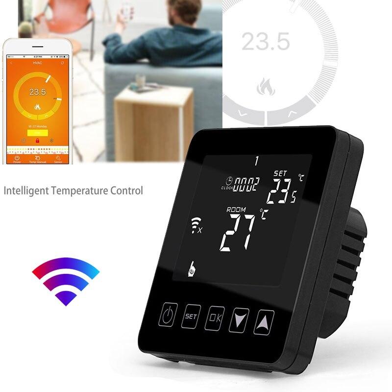 Thermostat Intelligent de contrôleur de température WiFi Intelligent Thermostat Intelligent chauffage électrique 16A semaine Programmable HY08WE Durable