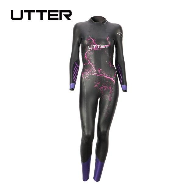 UTTER Volcano Women Purple 5MM SCS Long Sleeve Wetsuit Triathlon Suit Surfing Yamamoto Neoprene Swimsuit