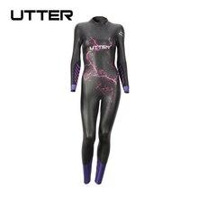 UTTER Volcano traje de baño de neopreno para mujer, traje de Triatlón de manga larga, para surf, Yamamoto, color morado, 5MM, SCS