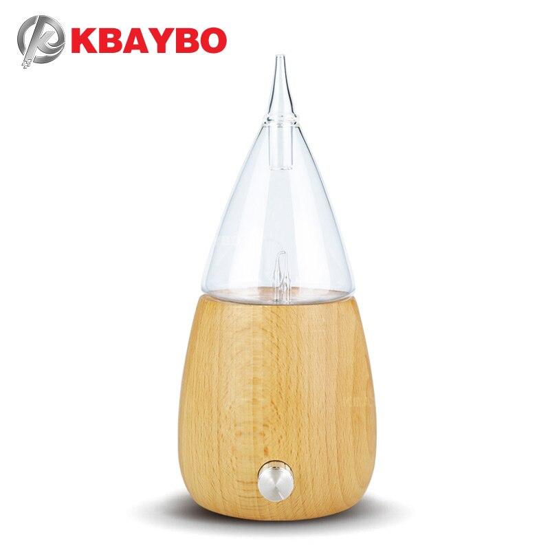 KBAYBO Madeira e Vidro difusor de óleos essenciais Aromaterapia Difusor de Aroma névoa criador fogger com 7 cores LEVOU luz para casa