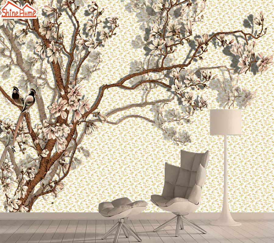 3d Photo Nature Mural Wallpaper Wall Paper Papers Home Decor Wallpapers For Living Room Self Adhesive Murals Walls Rolls Floral