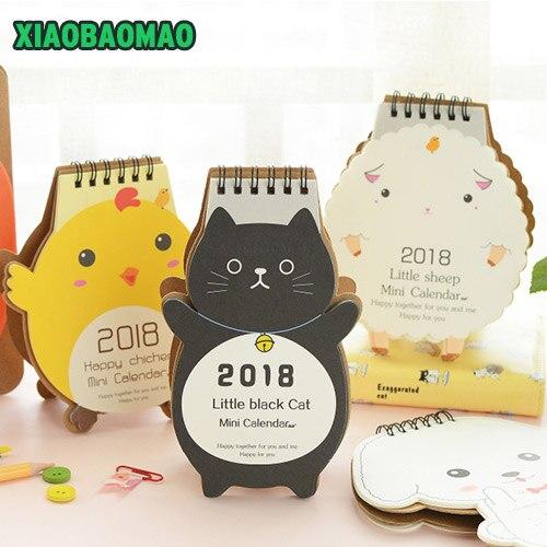 Mini leuke cartoon bureau kalender 2018 jaar bureau for Bureau kalender