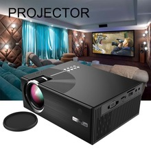 Home Projector Mini Miniature Portable 1080P HD Projection Mini LED Projector For Home Theater Entertainment US-Black