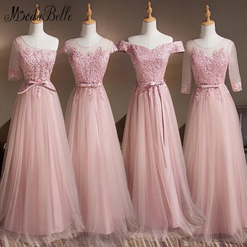 modabelle 4 Styles Dusty Pink Long   Bridesmaids     Dresses   For Women Robe Demoiselle D'honneur Wedding Party   Dress   Plus Size