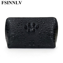 FSINNLV Fashion Men Bags Genuine Leather Long Men Day Clutches High Quality Male Handbag Business Men Wallet Purse DC127