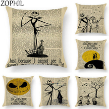 цена на Happy Halloween party Decoration Prop Horror Trick Letter Pillow Case Pumpkin Sofa Throw Cushion Cover haloween Home Decor