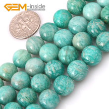 4mm 6mm 8mm 10mm 12mm Wholesale Natural Green Russian Amazonite Round Shape Beads For Jewelry Making DIY Gift Strand 15 Inches