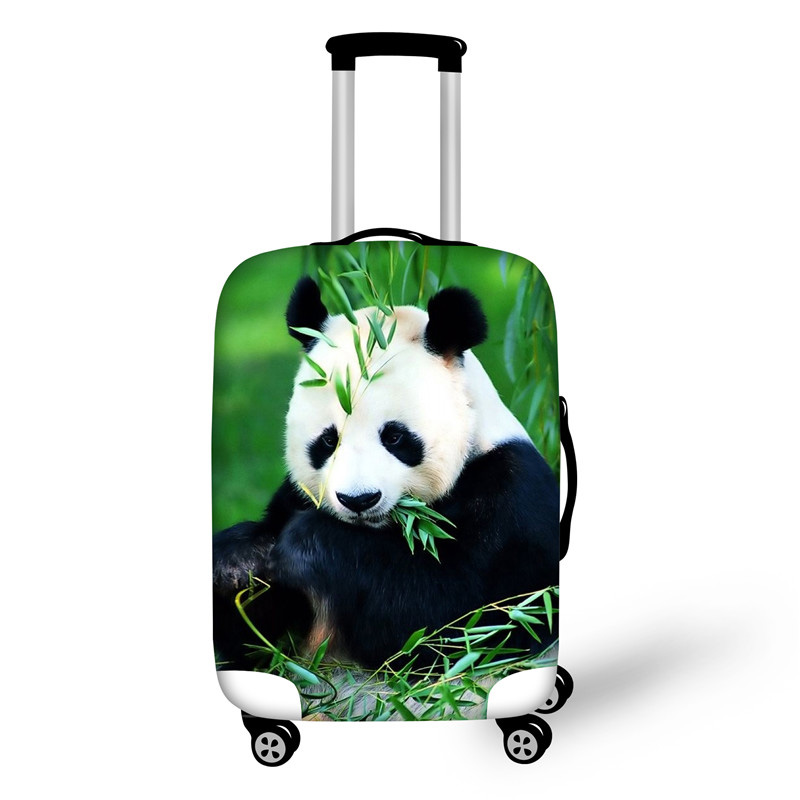 Stretch Waterproof Luggage Cover To 18-28 Suit Case Kawaii Panda Print Suitcase Protective Cover Luggage Accessories