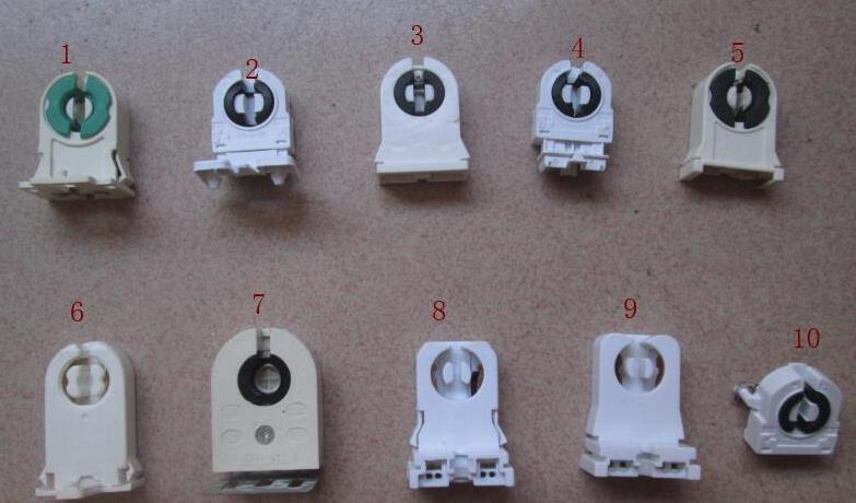 Mix 10 Kinds G13 T8 Lamp Holder Light Socket For Led Light Etc