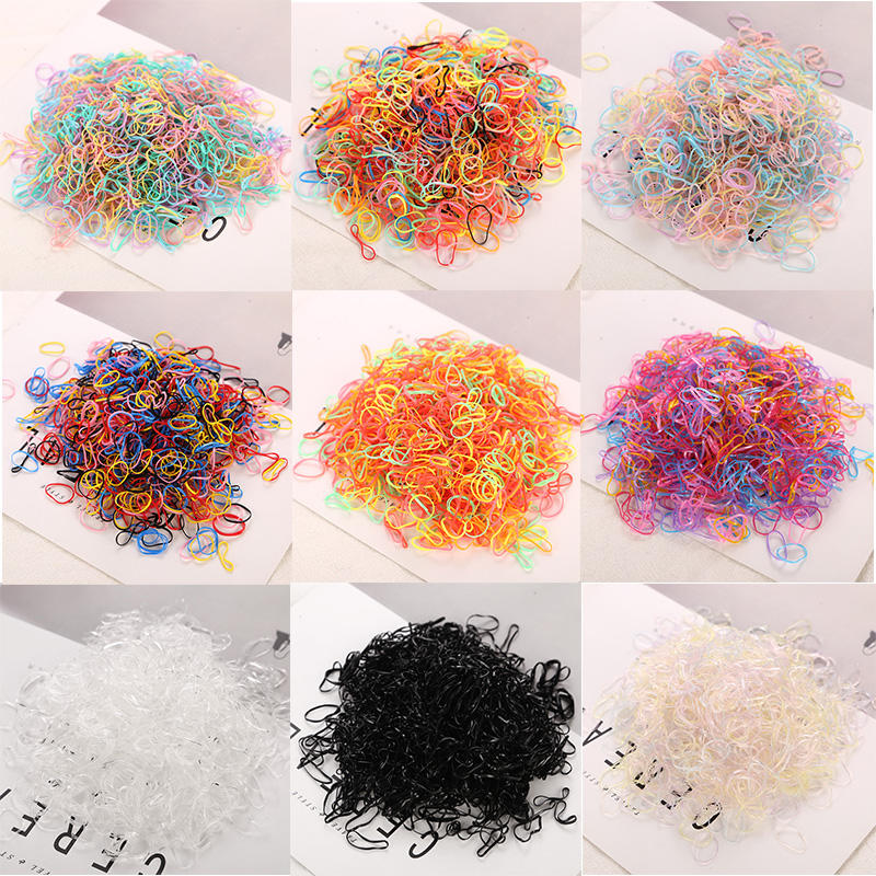 2018 Fashion Elastics Hair Bands About 1000 Pcs/bag  Child Baby TPU Hair Holders Rubber Bands Girl's Tie Gum Hair Accessories
