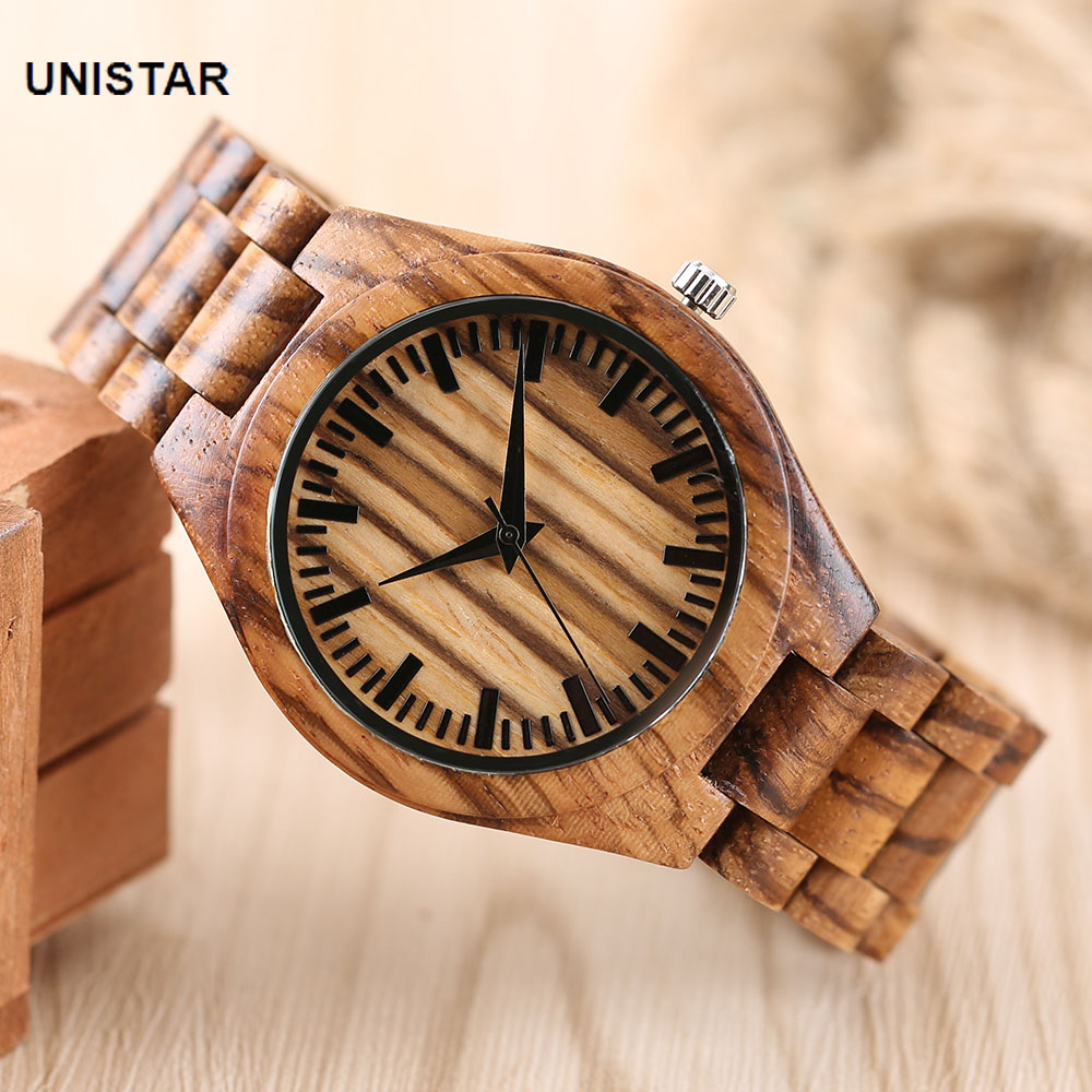 UNISTAR Luxury Nature Wooden Wrist Watches Quartz Father's Day Gift Top Men Women Watches Relojes de madera Relogio Masculino unistar luxury nature wooden wrist watches quartz father s day gift top men women watches relojes de madera relogio masculino