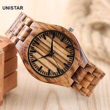 UNISTAR Luxury Nature Wooden Wrist Watches Quartz Father's Day Gift Top Men Women Watches Relojes de madera Relogio Masculino