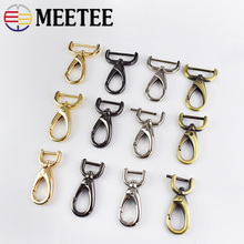 10pcs Meetee 16/20/25mm Metal Bags Dog Buckle Clasps HandBag Key Chain Movable Screw Hooks DIY Leather Sewing Accessories