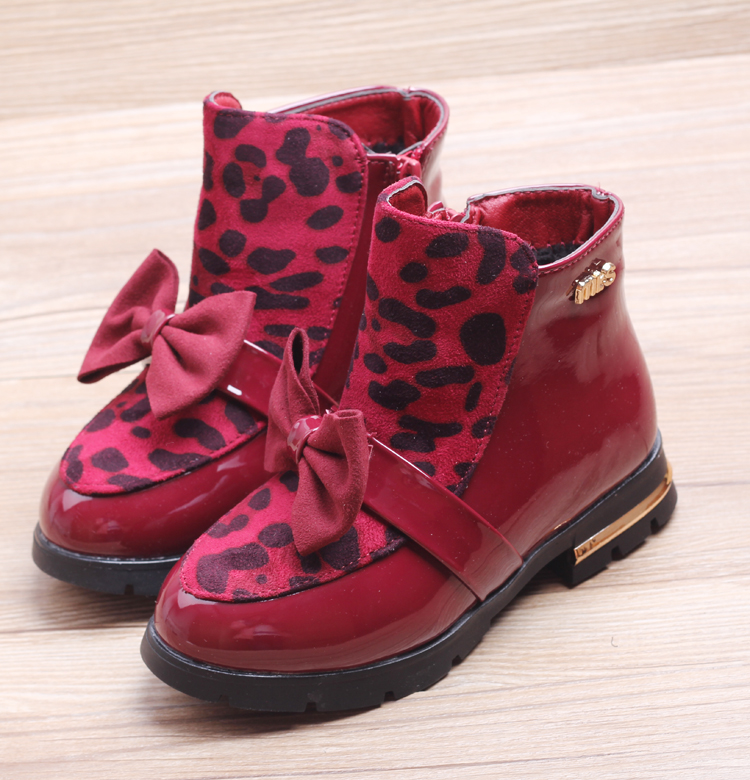 Children S Shoes Girls Boots Kids Martin Boots Fashion Winter Thickening Leather Snow Boots Child Waterproof