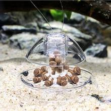 حوض السمك حوض للأسماك خزان البلاستيك واضح الحلزون فخ الماسك النباتات النباتية الآفات الصيد صندوق Leech البيئة نظيفة أداة جديد
