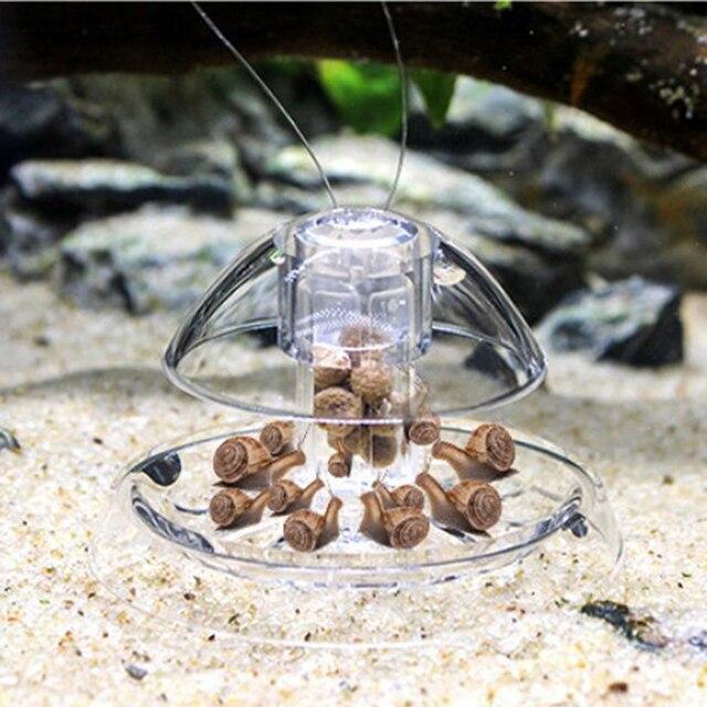 אקווריום דגי צמח טנק פלסטיק ברור חילזון מלכודת התפסן צמחים Planarian פשט תיבה לתפוס עלוקה הסביבה נקייה כלי חדש