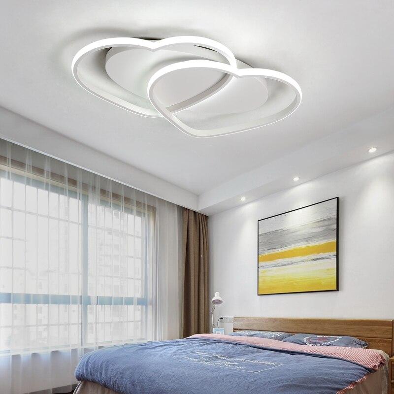 Blanco/café llevó las luces de techo corazón creativo en forma de dormitorio caliente romántico LED lámpara de techo hotel iluminación decoración mx5091652 - 4