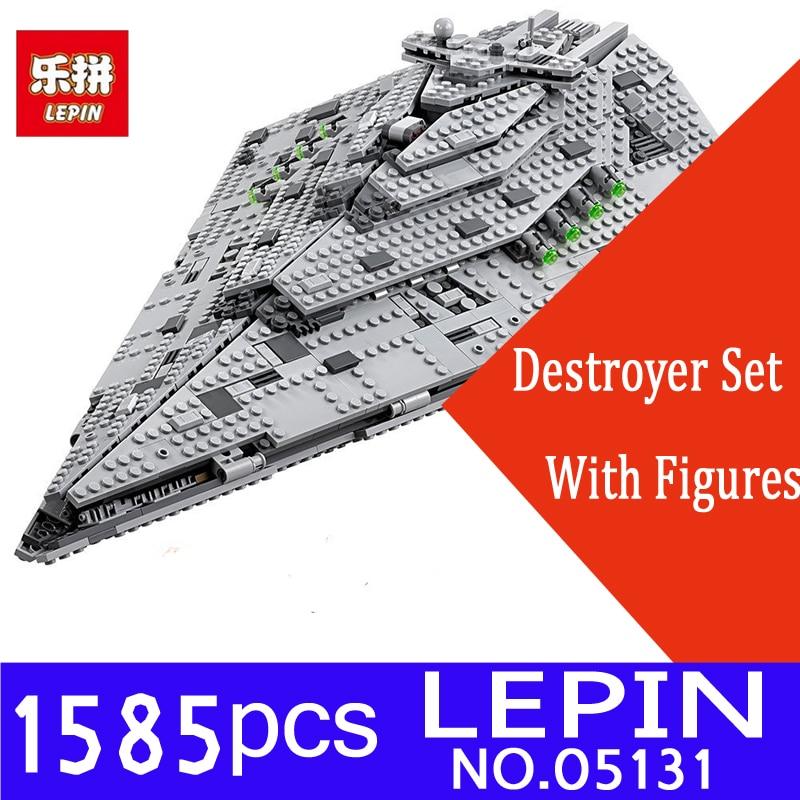 Lepin 05131 Genuine Star Plan Series The First order Star Model Destroyer Set 1585PCS 75190 Building Blocks Bricks Toys MOC Gift