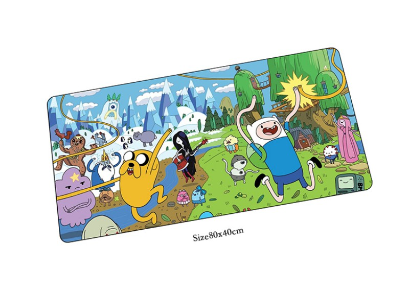 Adventure Time mouse pad locrkand pad to mouse notbook computer mousepad High-end gaming padmouse gamer to 80x40cm mouse mats