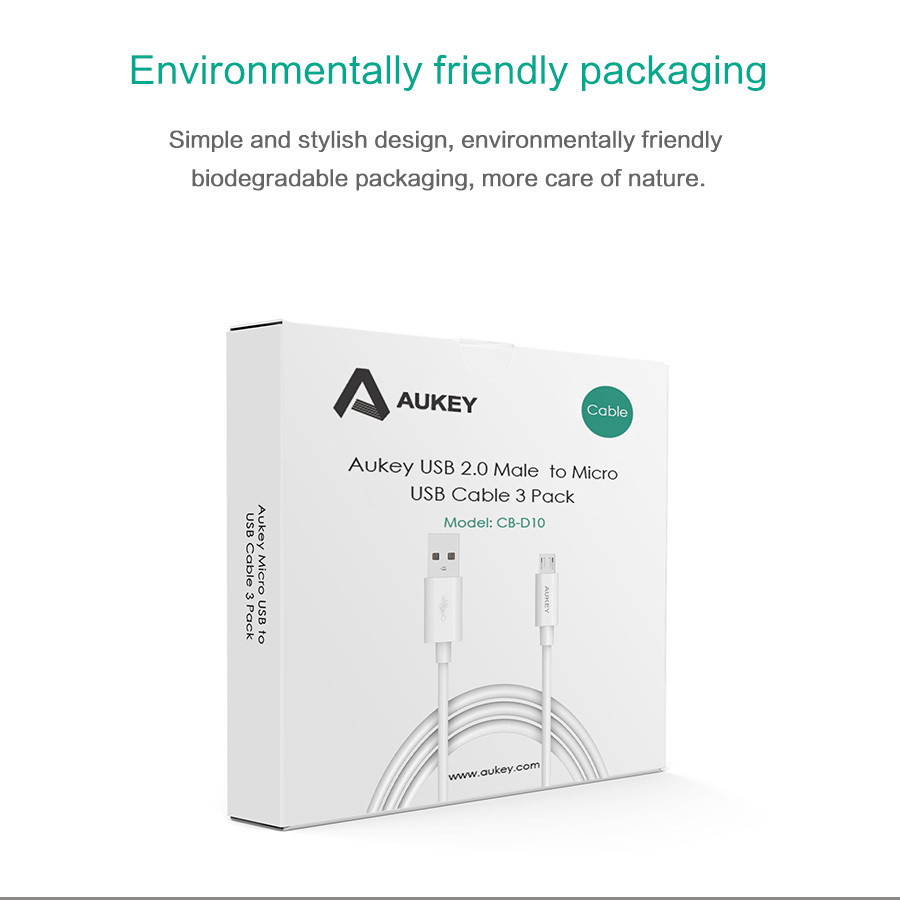 Aukey Micro Usb Cable 5 Pack Data Chargur Android Mobile Cb D5 Original Kabel Phone Cables Quick Charger For Samsung 206 Xiaomi Hawaii Htc In From