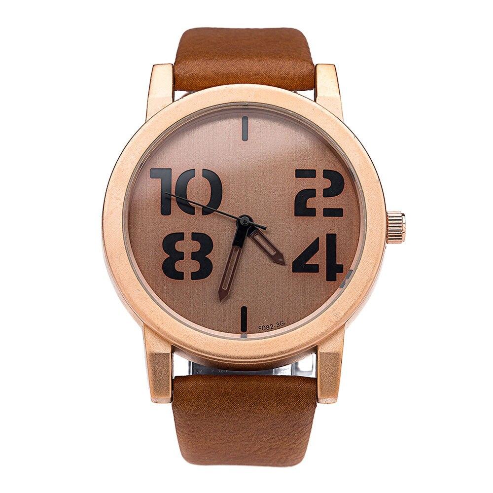 8b0b0d3efa1c Creative reloj mujeres 1 unid moda de lujo unisex relojes banda de cuero  reloj de cuarzo Relogio feminino