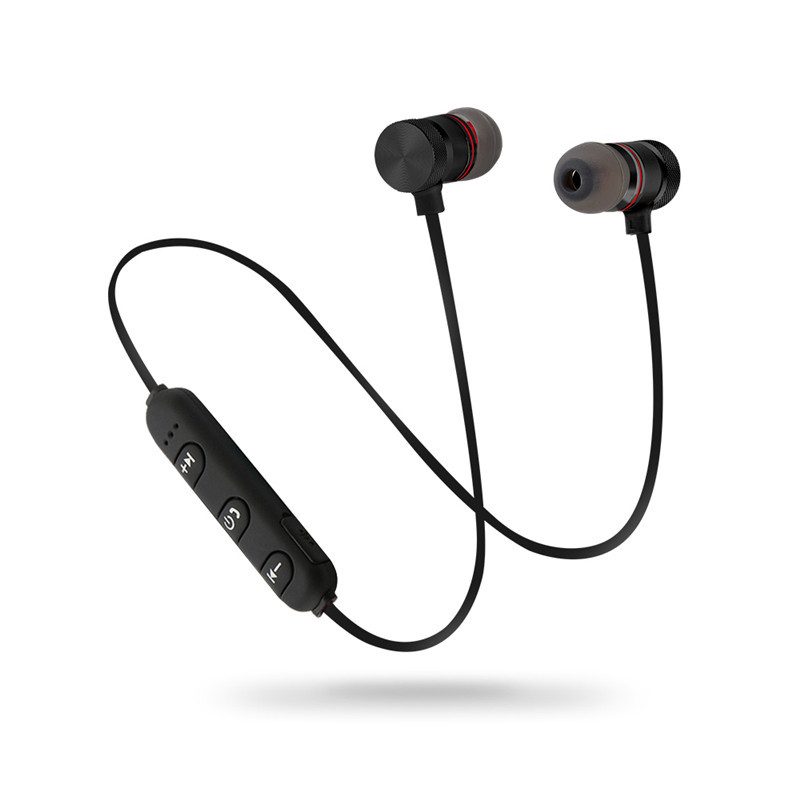 Magnet Wireless Bluetooth Earphones Earbuds Headsets With Microphone Connect to 2 Phones for LG Lotus audifonos inalambrico magnet wireless bluetooth earphones connect to 2 phones for sony smartwatch 3 fone de ouvido