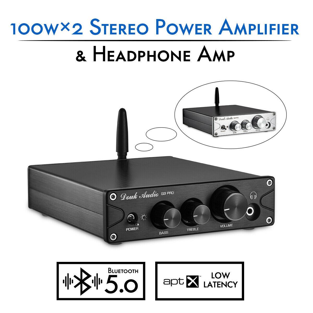 Nobsound HiFi TPA3116 Bluetooth 5 0 APTX ES9018K2M DAC Stereo Class D Power Amplifier Headphone Amp