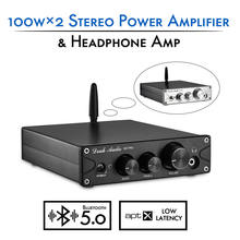 Nobsound HiFi TPA3116 Bluetooth 5,0 APTX ES9018K2M DAC Stereo Klasse D Power Verstärker Kopfhörer Amp 100W * 2(China)