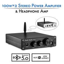 Nobsound HiFi TPA3116 Bluetooth 5.0 APTX ES9018K2M DAC Stereo di Potenza in Classe D Amplificatore Per Cuffie Amp 100W * 2