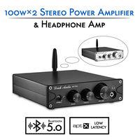 Nobsound HiFi TPA3116 Bluetooth 5.0 APTX ES9018K2M DAC Stereo Class D Power Amplifier Headphone Amp 100W*2