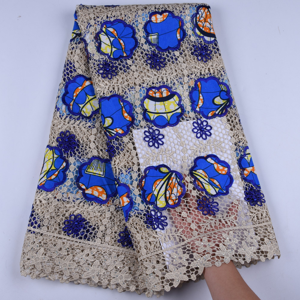 New Arrival African Wax Cord Lace Fabric High Quality Water Soluble Nigerian Embroide Sewing Guipure Lace