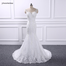 yiwumensa vestidos de novia see through Mermaid wedding dresses 2017 vestidos de novia wedding dress robe de mariee Bridal gowns