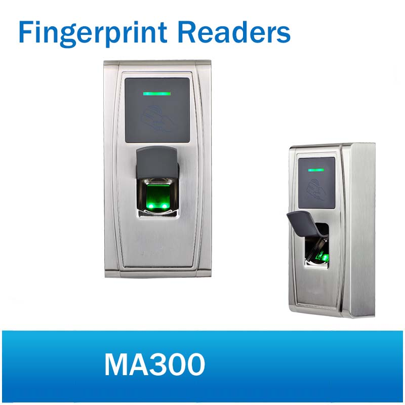 ZK MA300 Metal Waterproof Fingerprint Time Attendance and Access Control system RFID card reader protection fingerprint reader