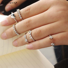Gigisanny 6PCS/Set Unique Ring Set Womens Trendy Knuckle Rings for Women Free Shipping,Oct 11
