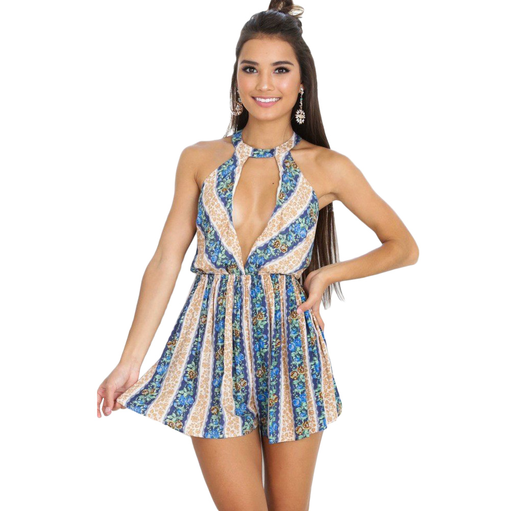 59742fac1309 Sexy Backless Summer Beach Jumpsuit Rompers Sleeveless Tassel Short  Overalls For Women Party Playsuit Plus Size