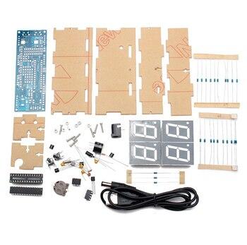 9fec4c248cf5 4 bits DIY Kit LED reloj electrónico microcontrolador LED Digital reloj  tiempo termómetro dropshipping de envío
