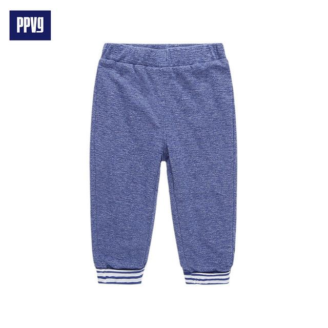 PPVG Bebé Unisex Pantalones Largos 100% Algodón de impresión Patrón de Amor Diseño Del Arco de bolsillo 2017 Nueva Primavera bebé Recién Nacido niño leggings