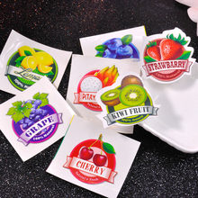 5Pcs/set Creative Fruit Stickers for Slime Storage Box Strawberry Shaped Slime DIY Accessories Gift Toy for Children Adult(China)