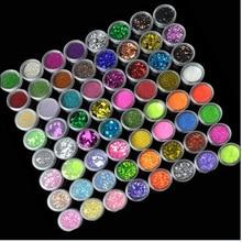 72 Bottles/Set Acrylic Nail Glitter Set Dust Powder Ultra thin Sequins Pigment Dust Powder Manicure Nail Art Glitter,,,free ship