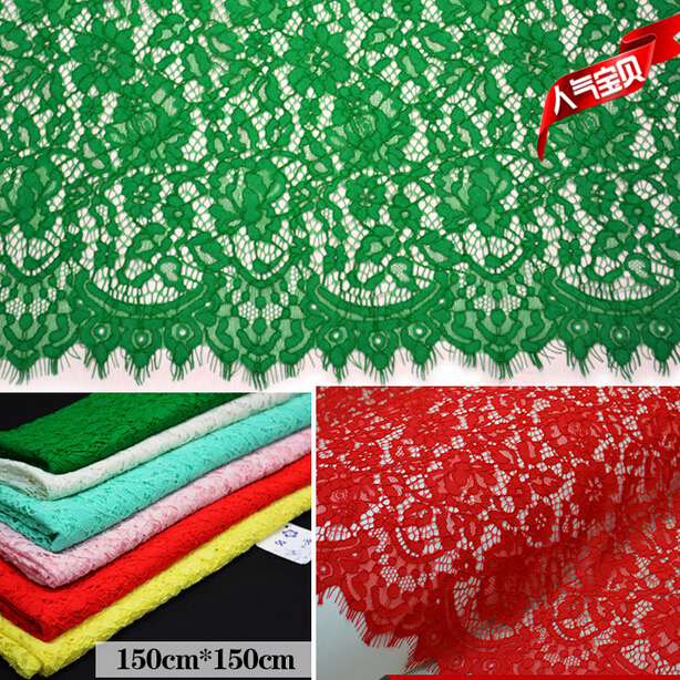 Free shipping ! Openwork eyelash lace wedding dress fabric curtain background lace fabric wide 150cm  ZZ086-in Lace from Home & Garden on AliExpress