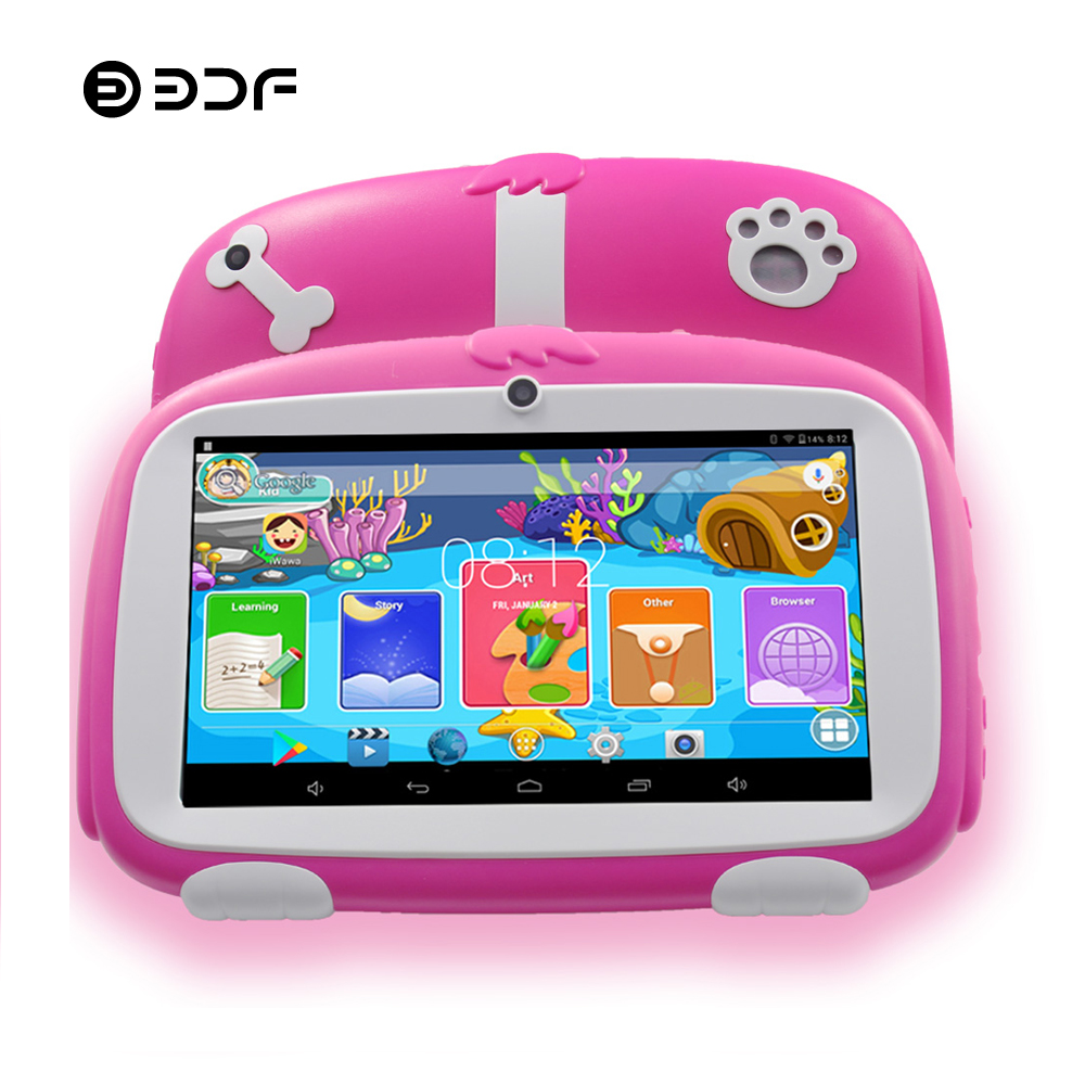 BDF Children Kids Tablet 7 Inch 8GB 512MB Android 4 4 Bluetooth WiFi Tablets Pc 1024