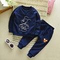 2017 Новый стиль мышь хлопка мальчик два комплекта Корейский круглый шею пуловер с длинным рукавом внешней торговли 1-4 лет ребенок костюм